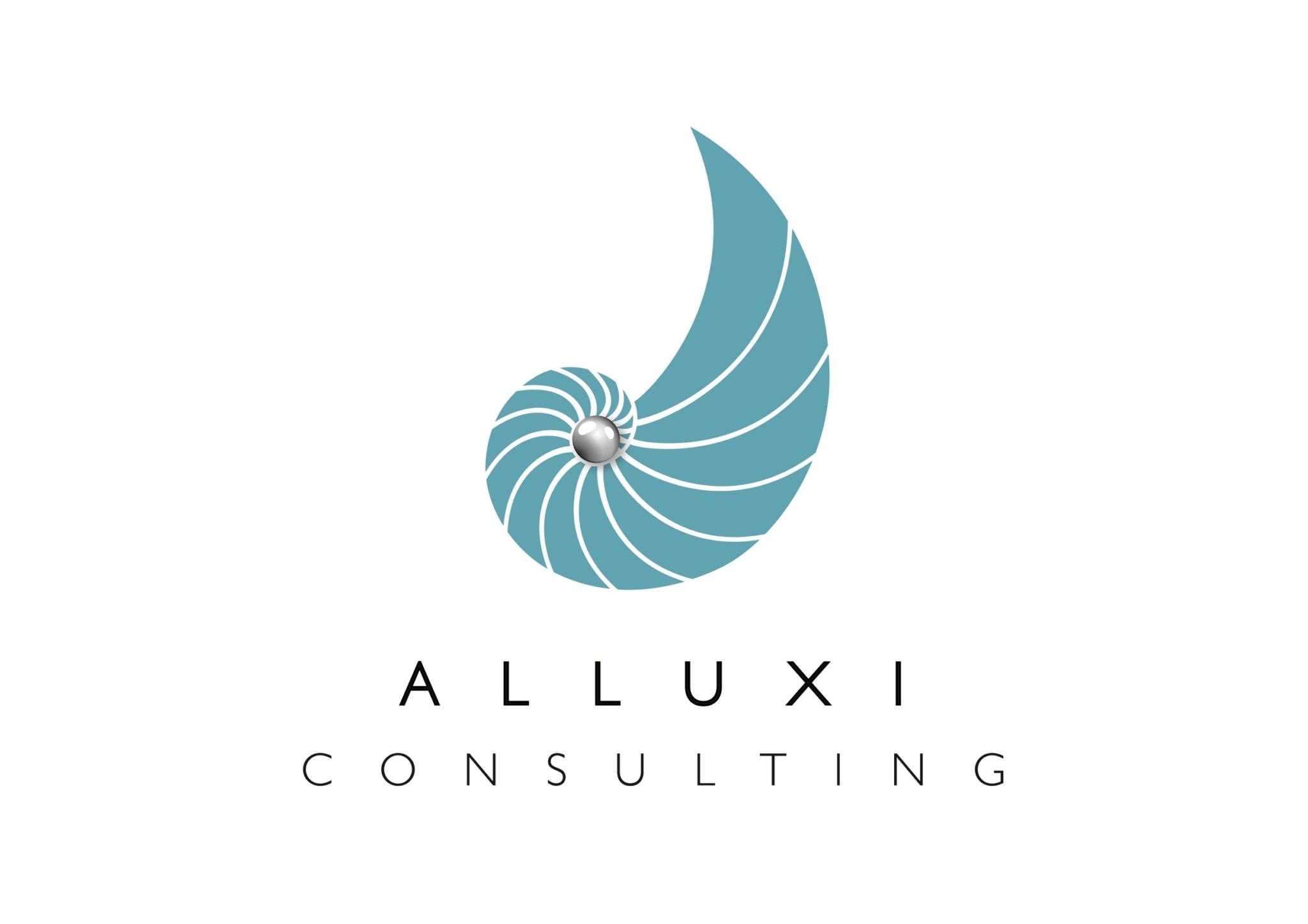 ALLUXI logo A5 cmyk white b ground pixel